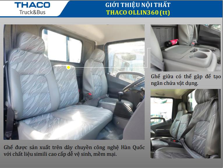 Thaco Ollin 360 2,150 tấn lưu thông thành phố