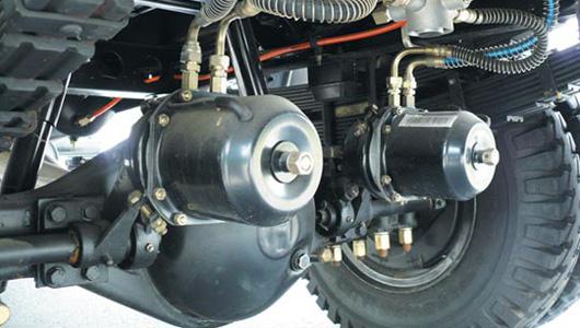 Hệ thống khung gầm sử dụng công nghệ xe tải nặng, tối ưu hóa khả năng chịu tải